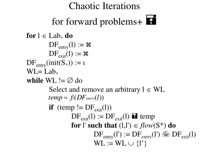 Chaotic Iterations