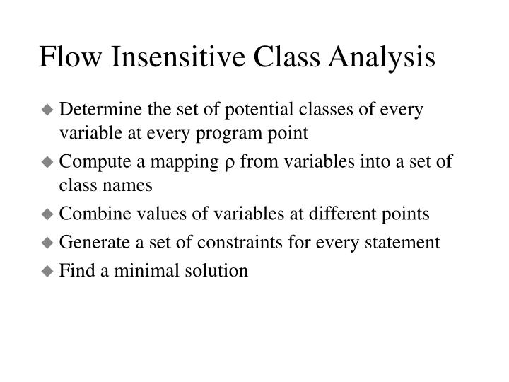 Flow Insensitive Class Analysis