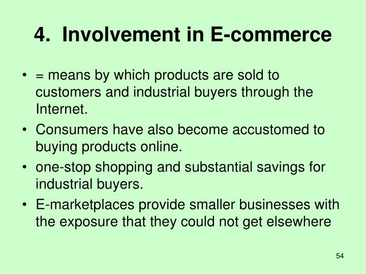 4.  Involvement in E-commerce