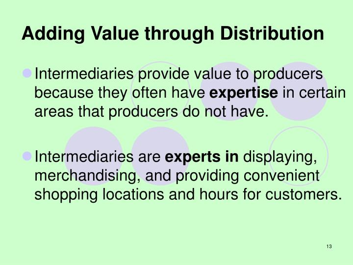 Adding Value through Distribution