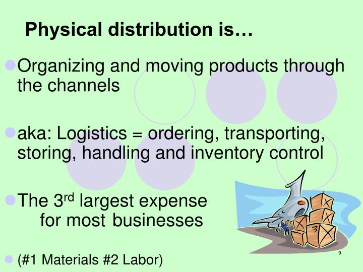 Physical distribution is…