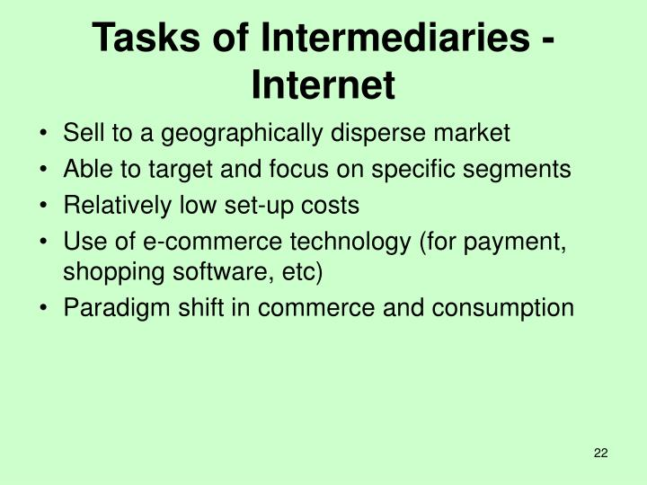 Tasks of Intermediaries - Internet