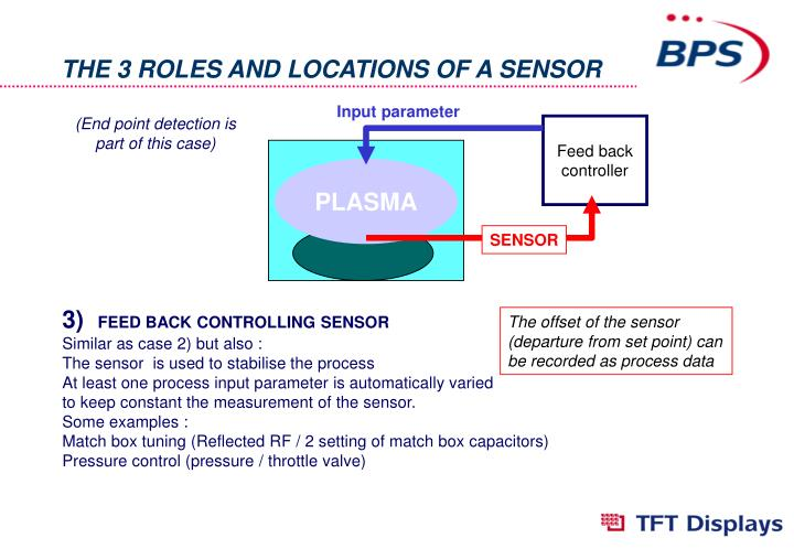 THE 3 ROLES AND LOCATIONS OF A SENSOR