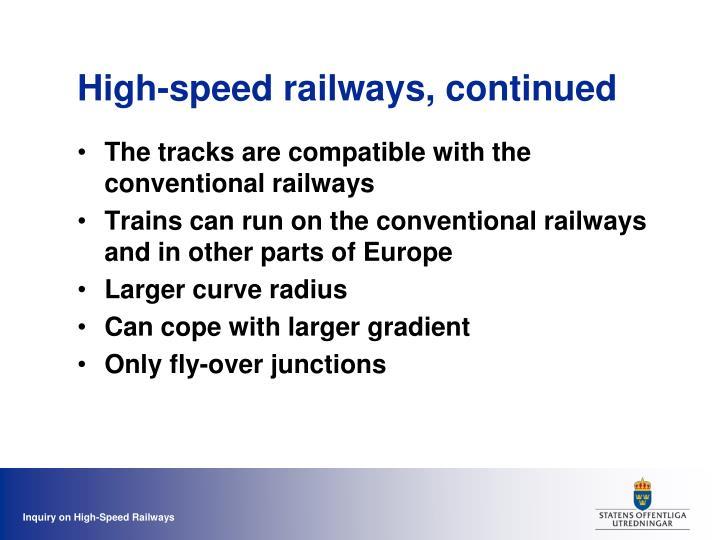 High-speed railways