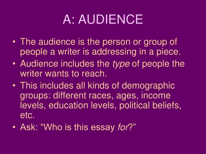 A: AUDIENCE