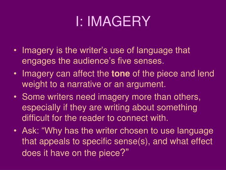 I: IMAGERY