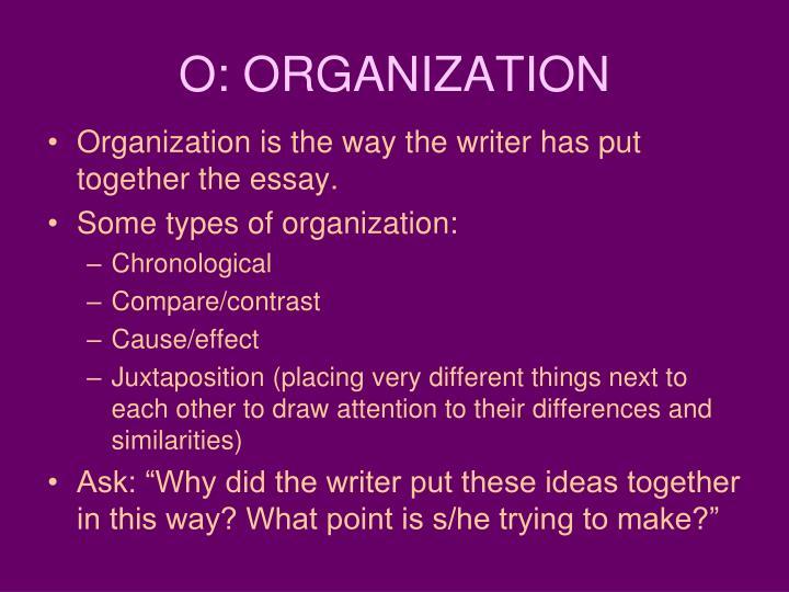 O: ORGANIZATION