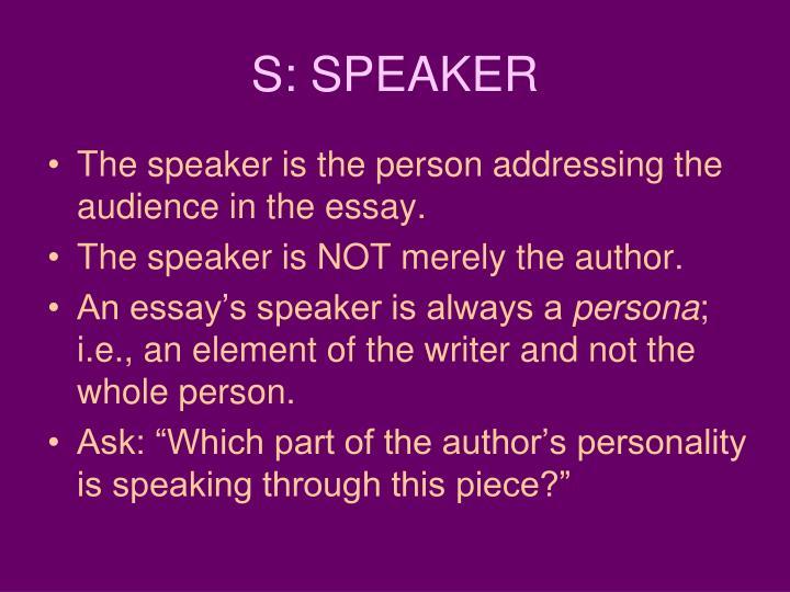 S: SPEAKER