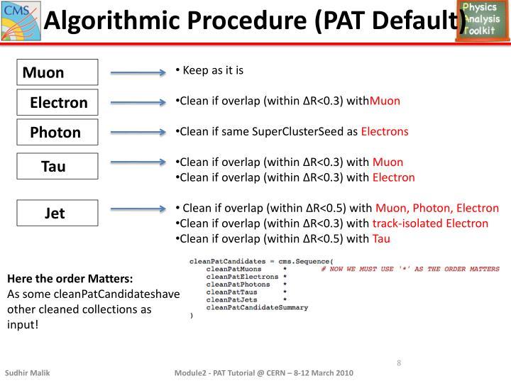 Algorithmic Procedure (PAT Default)