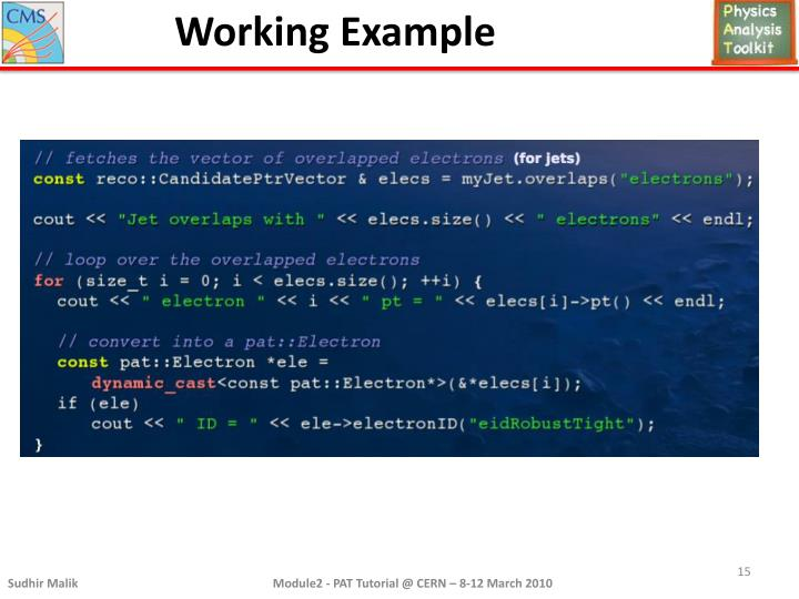Working Example