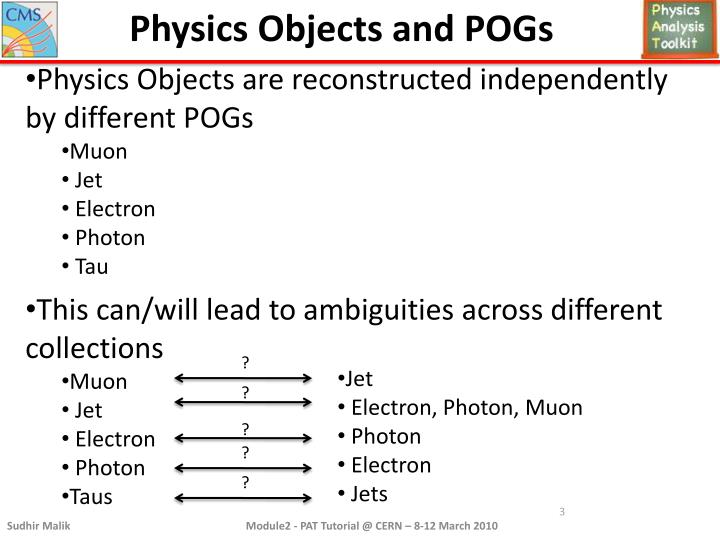 Physics Objects and