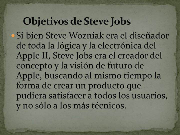 Objetivos de Steve Jobs