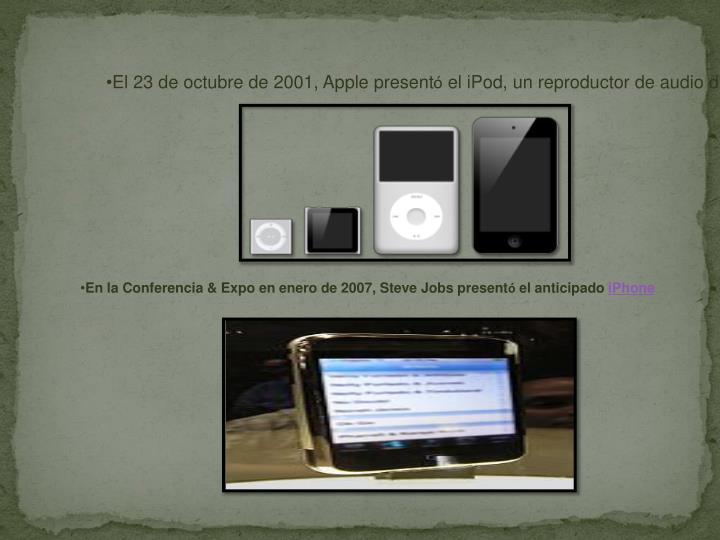 El 23 de octubre de 2001, Apple present