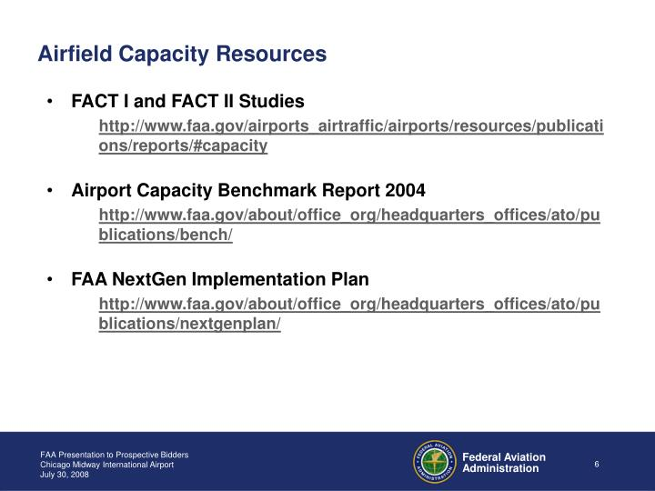 Airfield Capacity Resources
