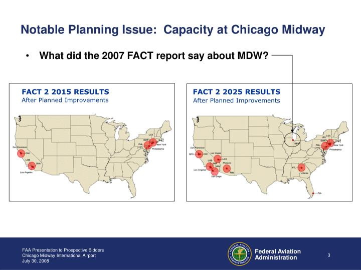 Notable Planning Issue:  Capacity at Chicago Midway