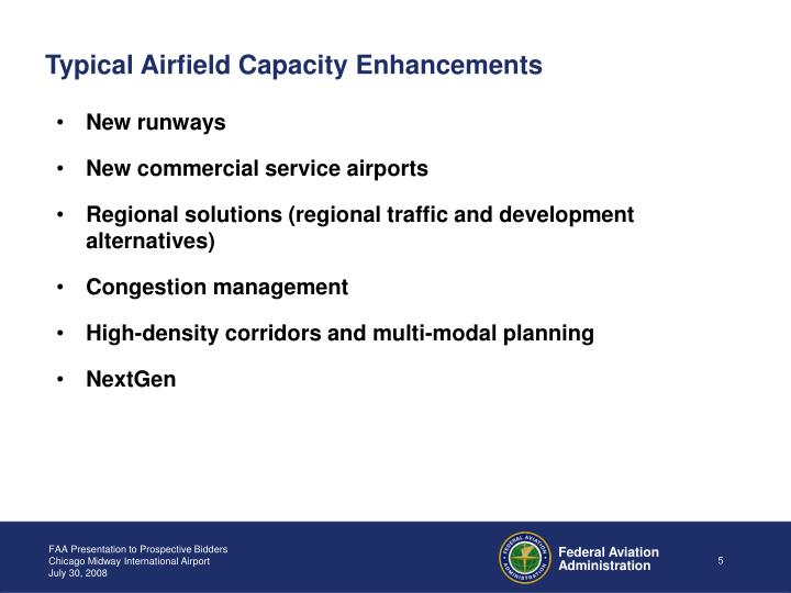 Typical Airfield Capacity Enhancements