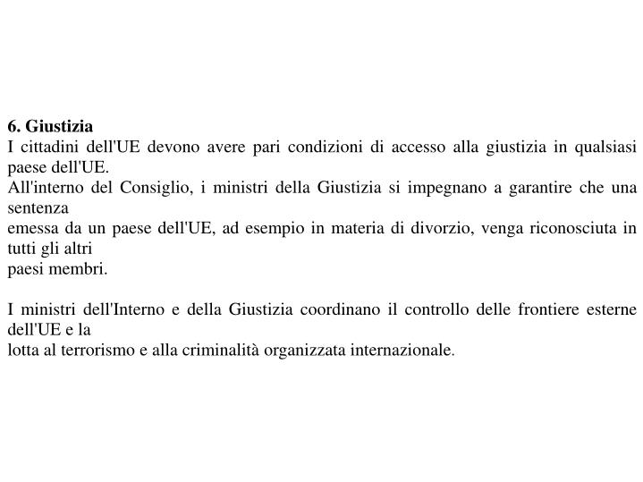 6. Giustizia