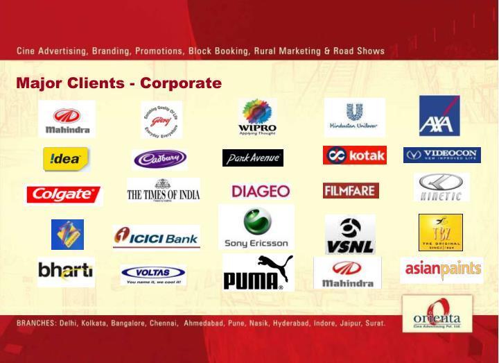 Major Clients - Corporate