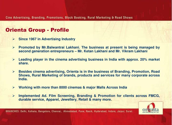 Since 1967 in Advertising Industry