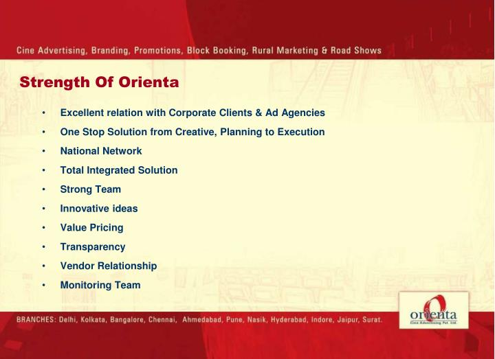 Excellent relation with Corporate Clients & Ad Agencies