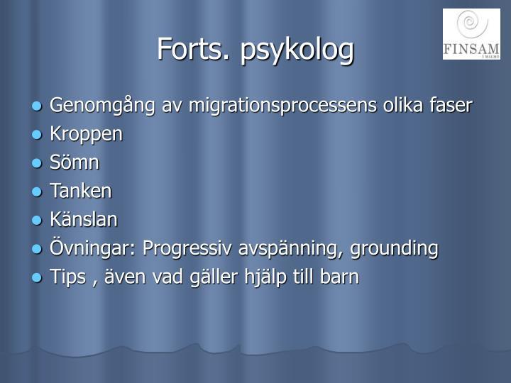 Forts. psykolog