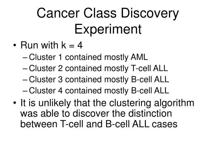 Cancer Class Discovery Experiment