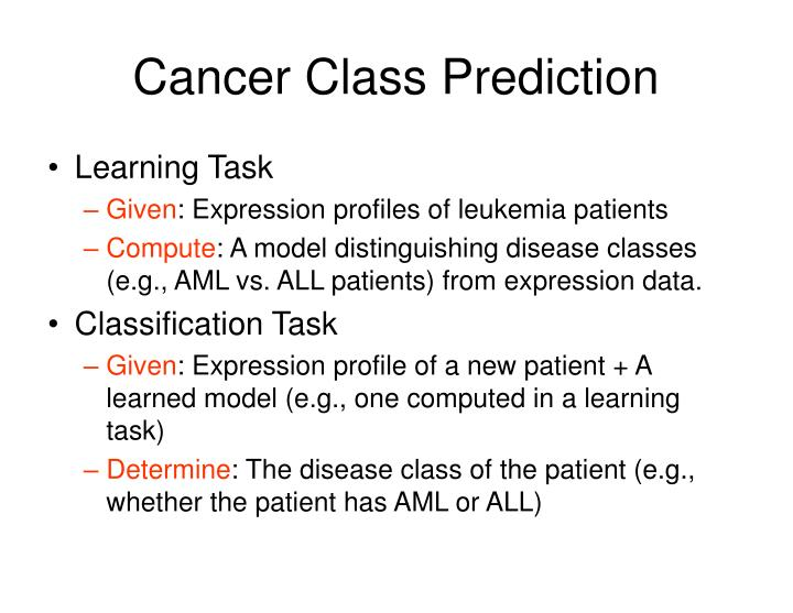 Cancer Class Prediction
