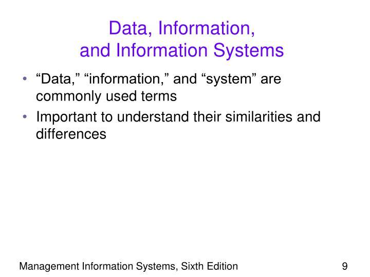 Data, Information,