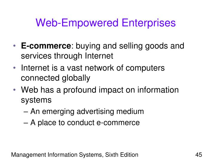 Web-Empowered Enterprises