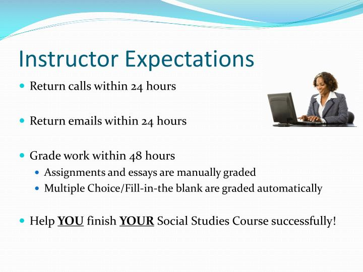 Instructor Expectations