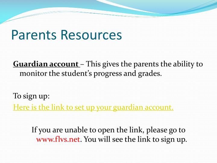 Parents Resources
