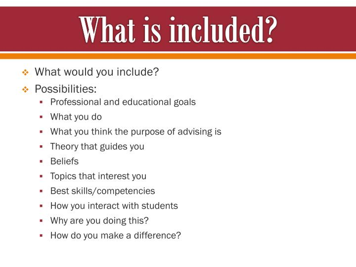 What is included?