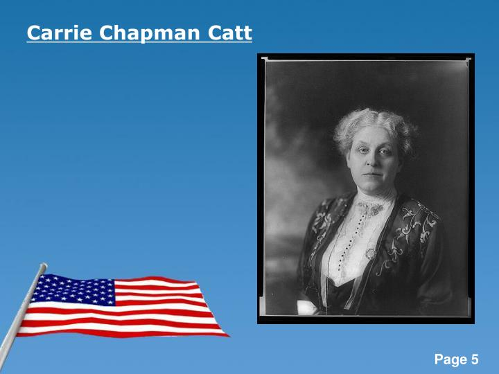 Carrie Chapman