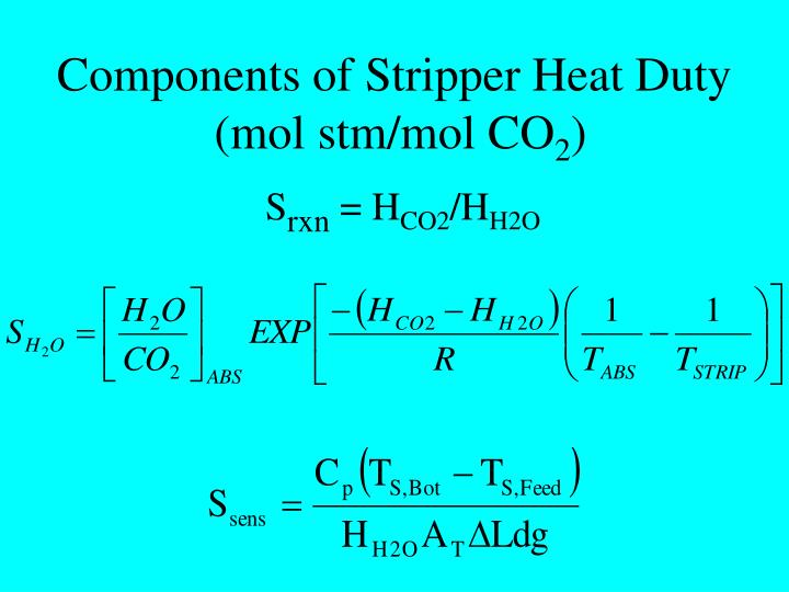 Components of Stripper Heat Duty