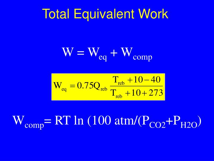 Total Equivalent Work