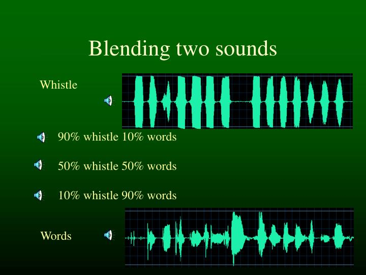 Blending two sounds