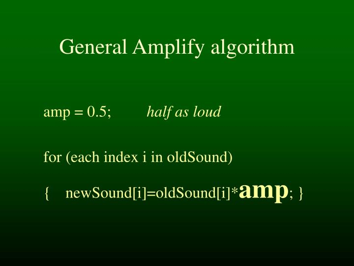 General Amplify algorithm