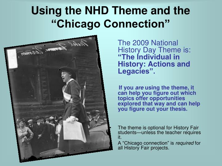 "Using the NHD Theme and the ""Chicago Connection"""