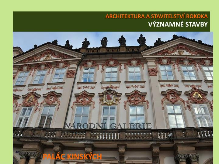 ARCHITEKTURA A STAVITELSTVÍ