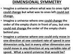dimensional symmetry