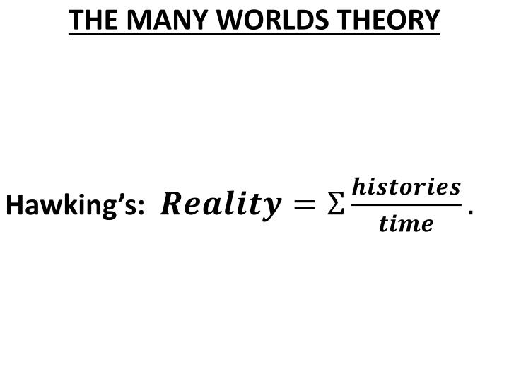 THE MANY WORLDS THEORY
