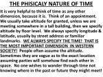 the phisicaly nature of time