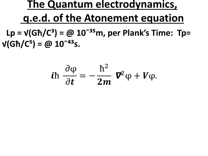 The Quantum electrodynamics,