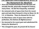 the quantum electrodynamics q e d of the atonement for abraham