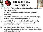 the scriptual authority