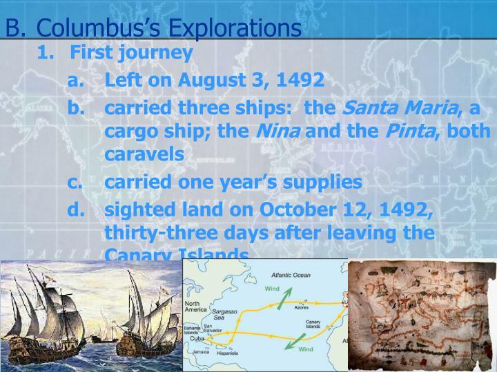 B.Columbus's Explorations