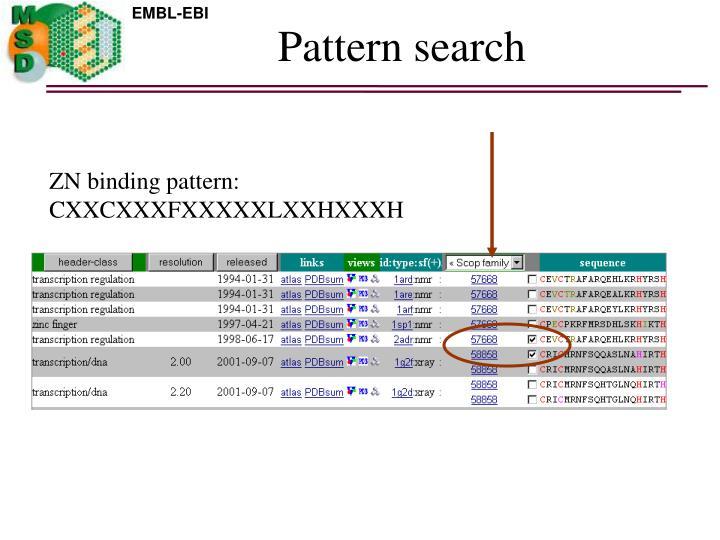 Pattern search