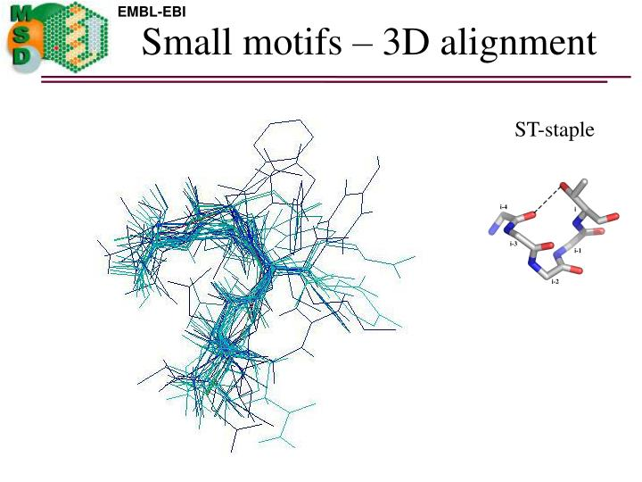 Small motifs – 3D alignment