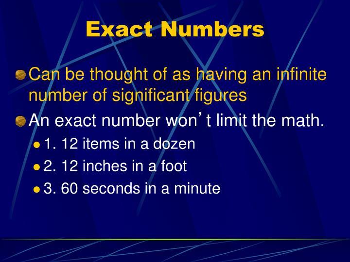 Exact Numbers