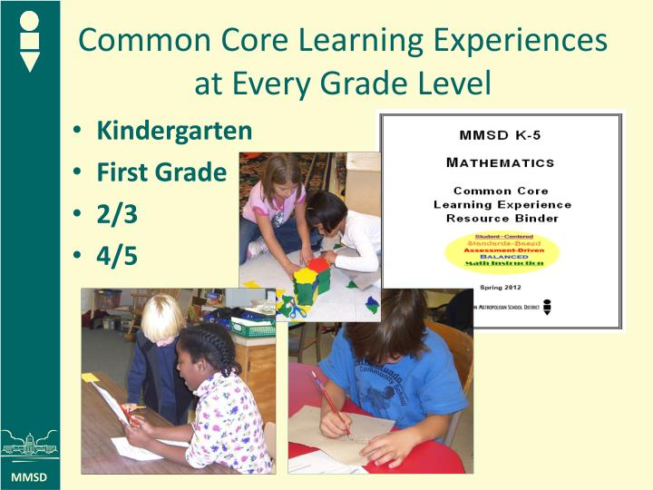 Common Core Learning Experiences at Every Grade Level